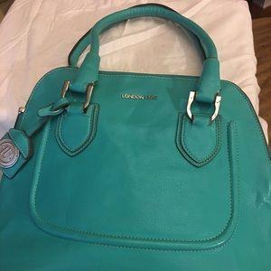 London Fog #Spring Hand Bag in Turquoise Like New